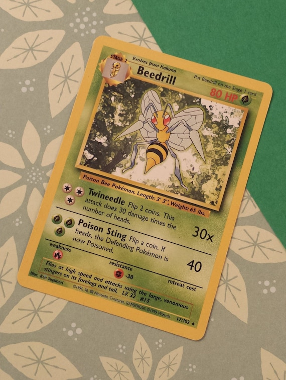 Beedrill 17//102 Base Set Pokemon Card Excellent Cond #