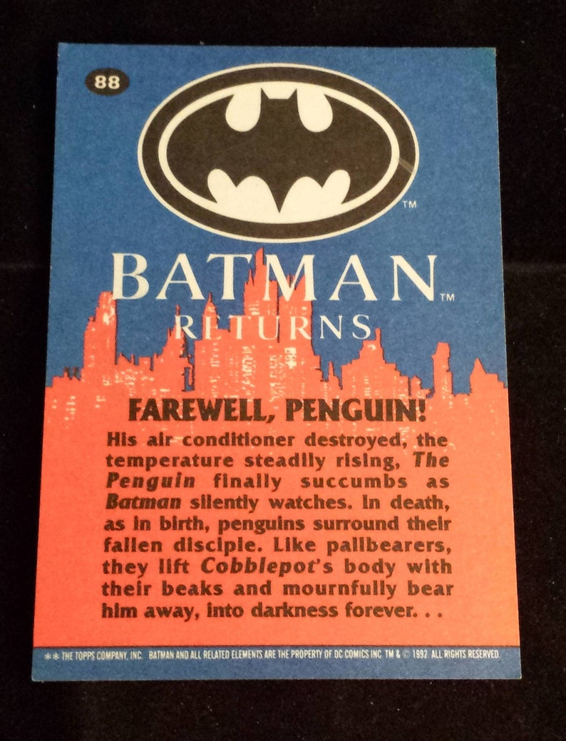 Non-sport Trading Cards Trading Card Singles 24 Topps Company Batman Returns 1992 Fine Quality