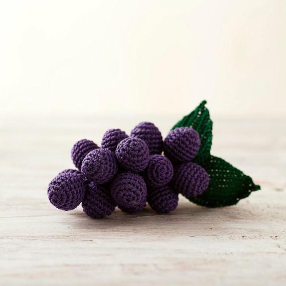 017   DIY Fruit Amigurumi   How to make a GRAPE amigurumi   Free ...   570x570