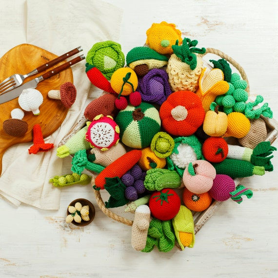 Gaming decor Bell peppers Child development Cute crochet pattern Montessori baby toys