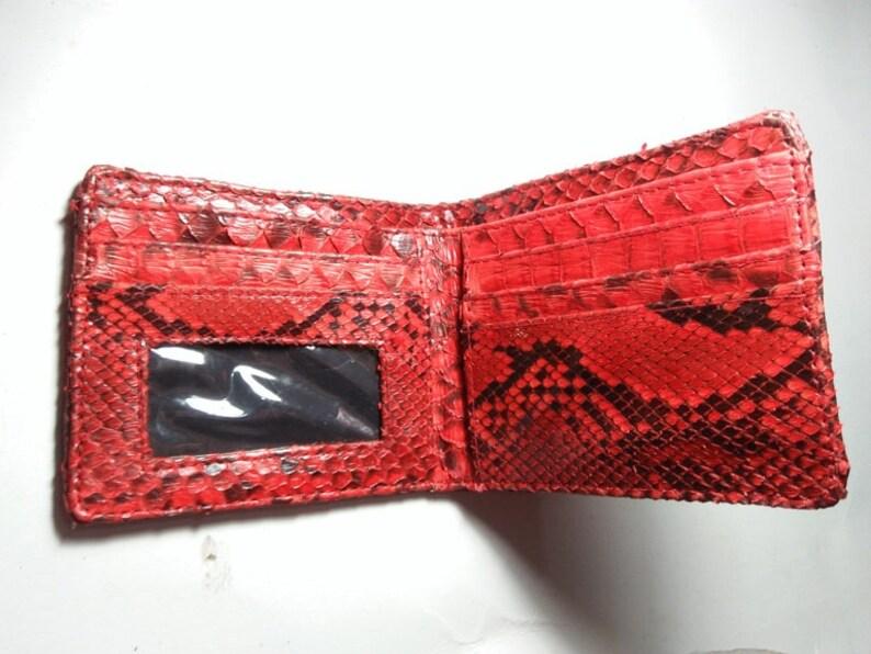 Men/'s en Cuir Rouge Portefeuille entier fait de cuir véritable rapide dans le monde entier livraison.