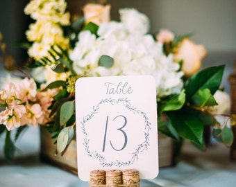 Rustic PRINTABLE Table Numbers- Floral Instant Download Tables 1-10