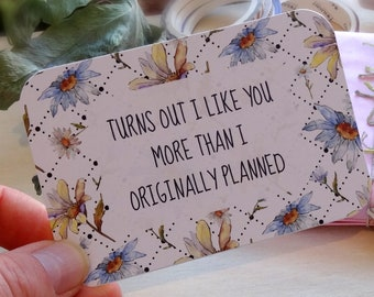Set of 8 note cards, Love note cards, Girlfriend cards, Scrapbooking, Valentines cards, Cute cards, Handmade snail mail cards, recycled card
