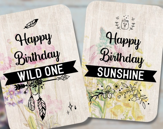 8 Birthday notecards, Mini note cards set, Small note cards, Notecards and envelopes, snail mail, recycled cardstock, Floral note cards