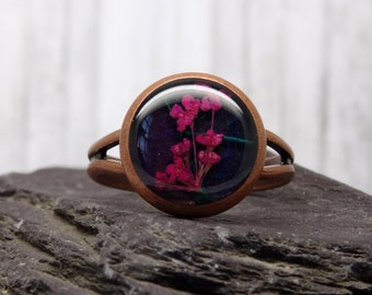 Real flower RINGS
