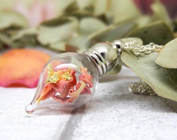 Soft Pink Carnation necklace