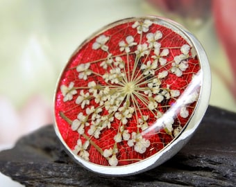 Real flower pin brooch, pressed flower gifts, real flower jewelry, real flower accessories, unique gifts for nature lovers