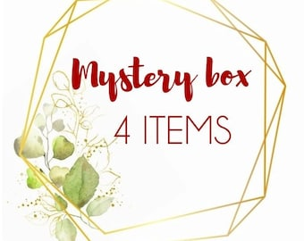 Mystery box 4 pieces of real flower jewellery, pressed flower jewelry gifts, surprise gift box, handmade gift box, mystery jewellery