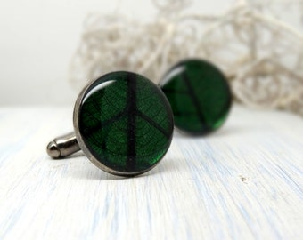 Real flower cuff-links, preserved flower cuff links, Fathers Day Gift, botanical gift for him