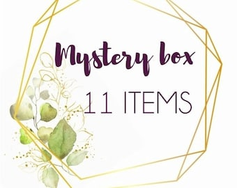 Mystery box 11 pieces of handmade real flower jewellery, pressed flower jewelry gifts, surprise gifts, handmade gift box, mystery jewellery
