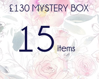 Mystery box with 15 pieces of real flower jewellery, mystery jewellery, surprise gift box, handmade unique  gift for her