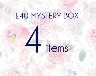 Mystery box 4 pieces of real flower jewellery, surprise gift box, handmade gift box, mystery jewellery