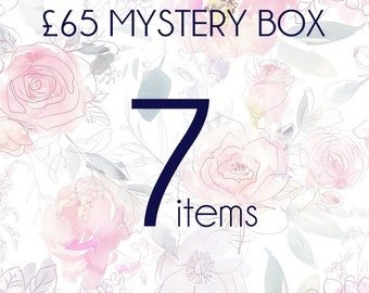 Mystery box 7 pieces of real flower jewellery, surprise box, handmade gift box, mystery jewellery box