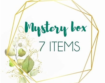 Mystery box 7 pieces of handmade real flower jewellery, pressed flower jewelry gifts, surprise gifts, handmade gift box, mystery jewellery