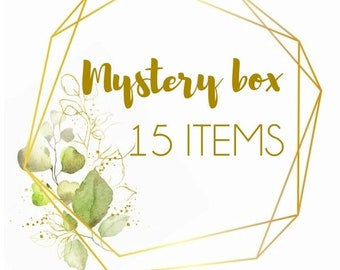 Mystery box 15 pieces of handmade real flower jewellery, pressed flower jewelry gifts, surprise gifts, handmade gift box, mystery jewellery