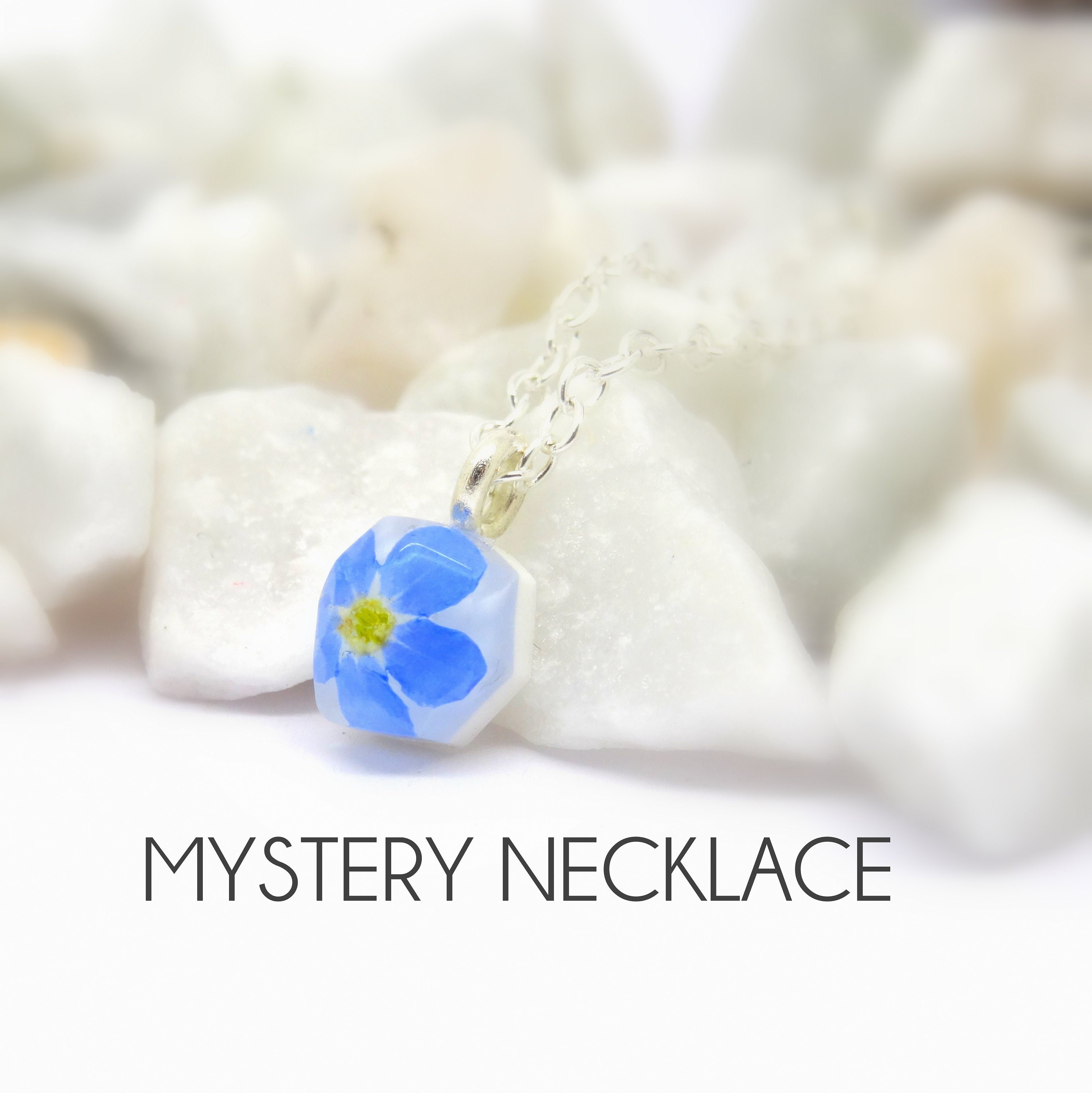 Mystery Necklace Real Flower Necklace Real Flower Jewellery Surprise
