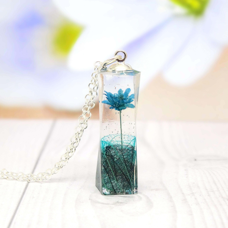 Daisy Necklace Terrarium Necklace