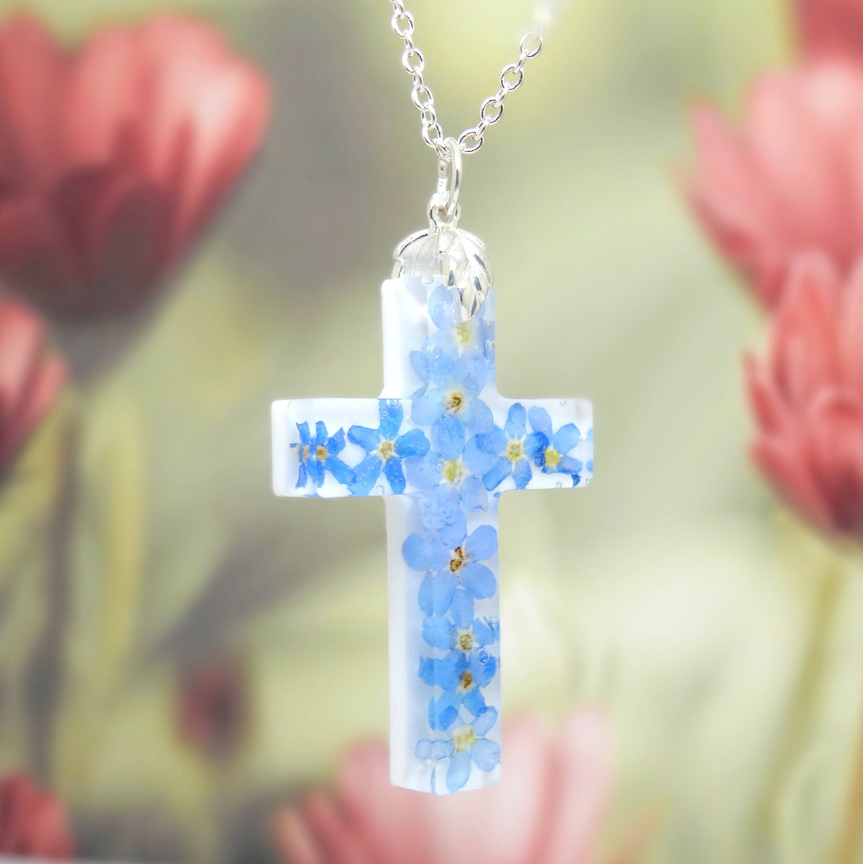 Personalized Floral Jewelry Flower Necklace