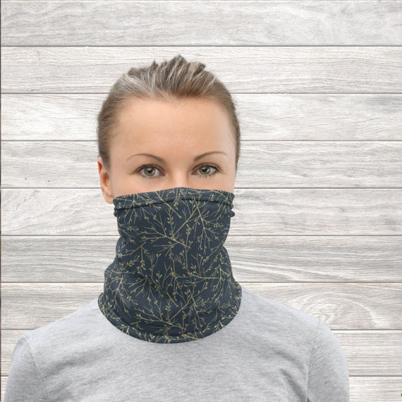 Face mask, floral face covering, twig headband, bandana, wristband, balaclava, neck warmer, spring gifts