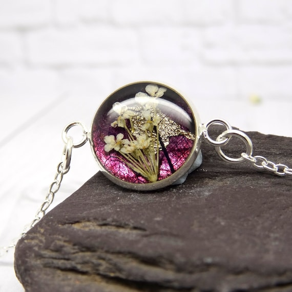 Real flower bracelet, real flower jewellery, handmade gift for her, personalised gift, unique gift ideas