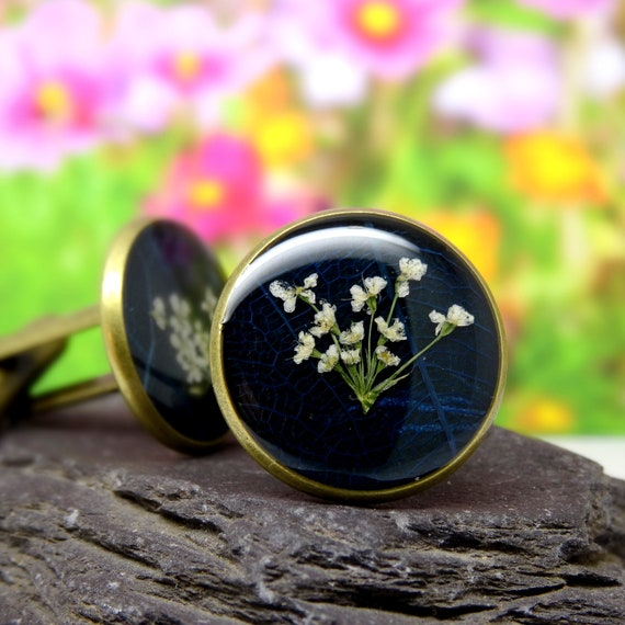 Pressed flower cufflinks, valentines day gift for him, real flower cufflinks, mens valentines day gifts, Fathers Day Gift, gifts for him