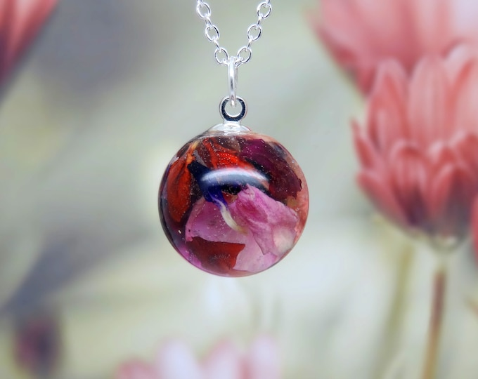 Real carnation necklace