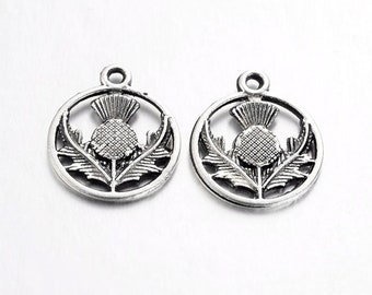 20 pcs 23 mm Tibetan silver Scottish Thistle charme Bijoux Craft Fleur N185