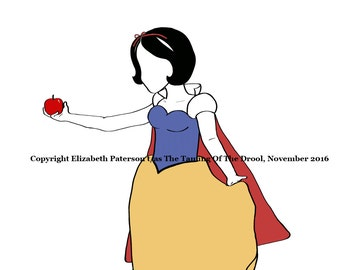 Snow White Nursery Decoration Poster