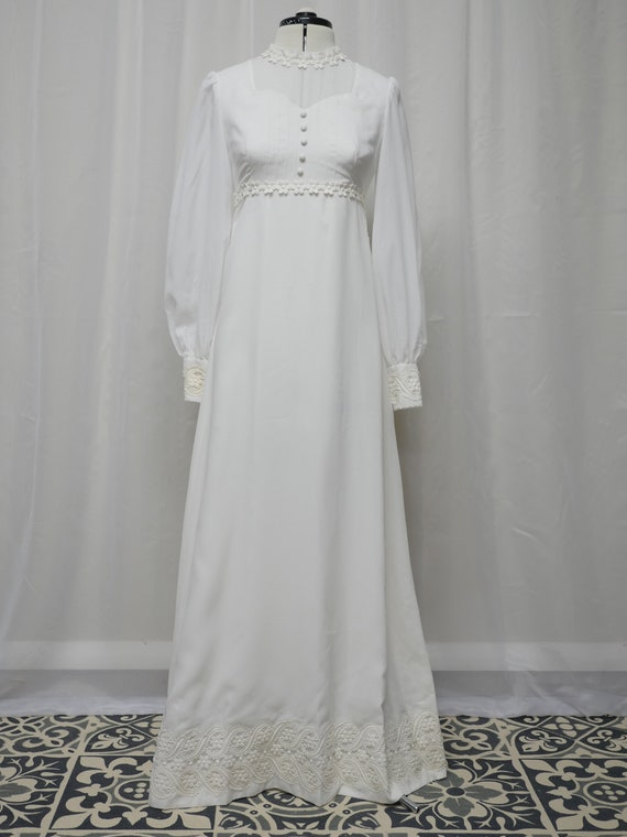 Empire Line Vintage Wedding Dress