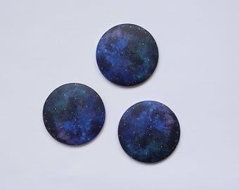 "set of 3 magnets ""universe"""