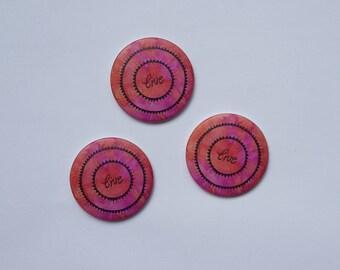 """set of 3 magnets """"live"""""""