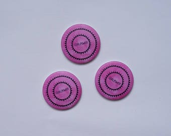 """set of 3 magnets """"girlpower"""""""