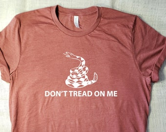 f50acd597 Don't Tread On Me - T-Shirt Anarchy Shirt Design Teen Grunge Life Death  Revolt Sisterhood Rise up Stand up Womans March Tshirt Super Soft T