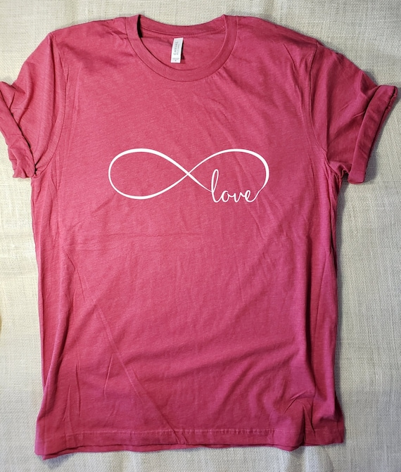 b1145975 Infinity Love TShirt Valentines TShirt Infinity Symbol | Etsy