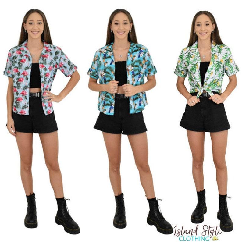 17c7ff69a0e1 Ladies Cut Hawaiian Cotton Shirts