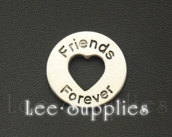 10pcs Antique Silver Alloy Friends Forever Charms Pendant A1070