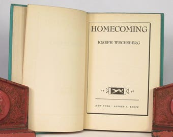 1946 - HOMECOMING - by Joseph Wechsberg  - FIRST EDITION