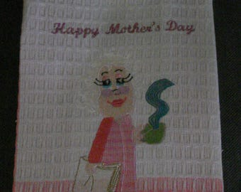 Happy Mother's Day Tea Towel