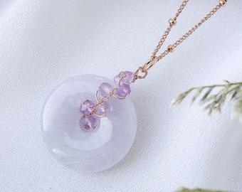 Purple Jade Necklace Spinel Necklace Wedding Necklace Lavender Jade Necklace #7 Bridal Jewelry Jade Jewelry Lavender Jadeite