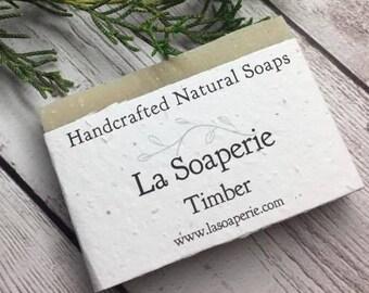 Timber, Balsam Fir, Bentonite Clay, Shaving Bar, Natural Soap, Handmade Soap, Cold Process Soap, Vegan Soap