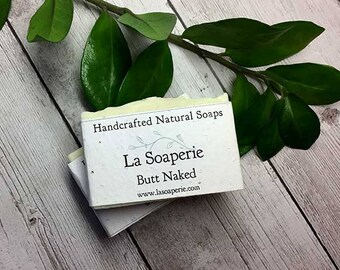 Butt Naked, Olive Oil, Unscented, Natural Soap,Handmade Soap, Cold Process Soap, Vegan Soap