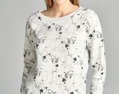 Super Soft Cat Printed Fleece Lined Sweatshirts