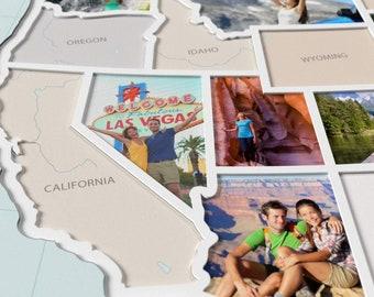 USA Photo Map - 50 States Travel Map Gift