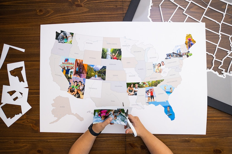 Made in America Frame Optional Thunder Bunny Labs 50 States USA Photo Map