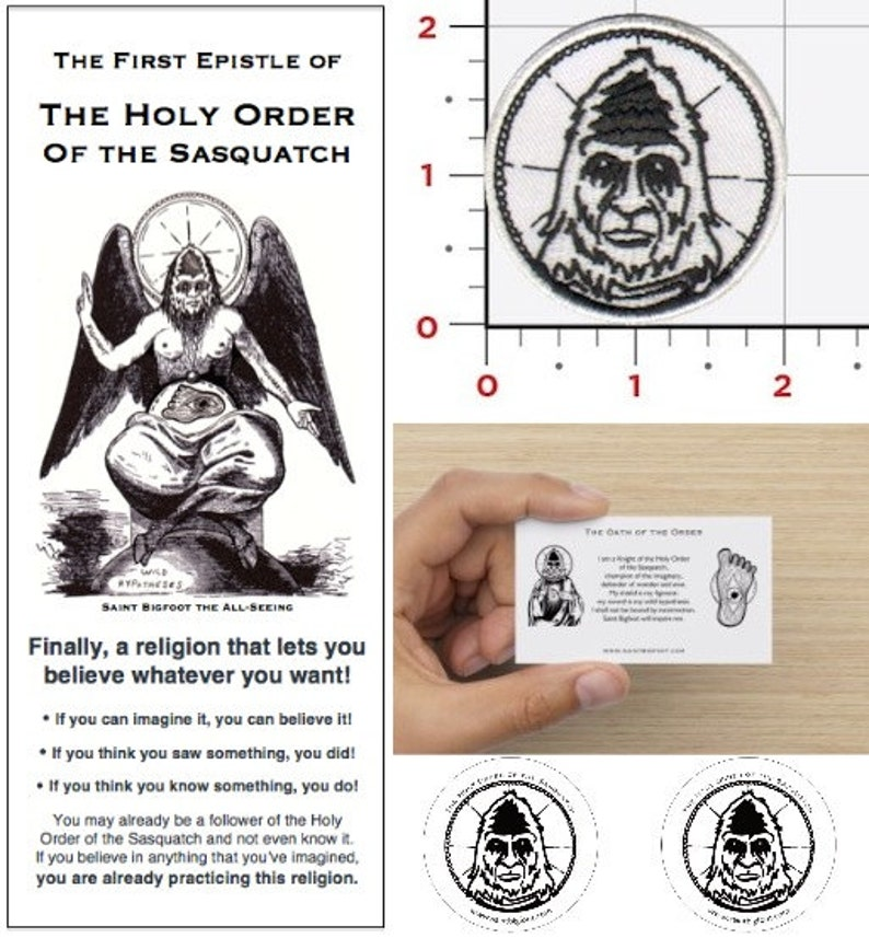 Basic Membership Package: The Holy Order of the Sasquatch image 0