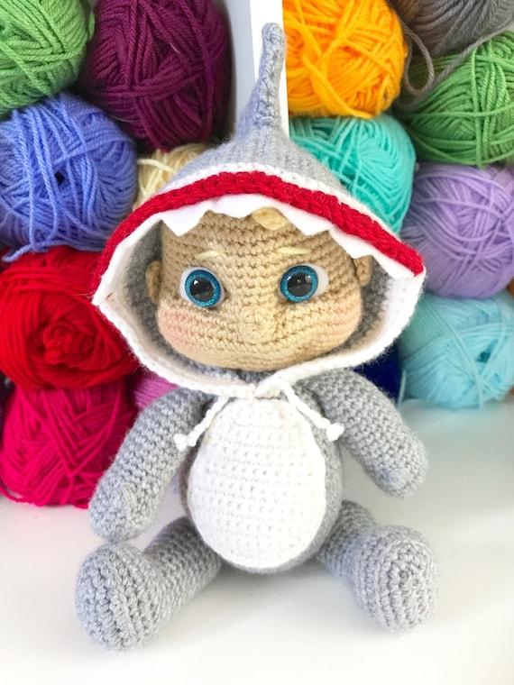 Amigurumi Baby Shark a crochet - Hacer Crochet | 760x570