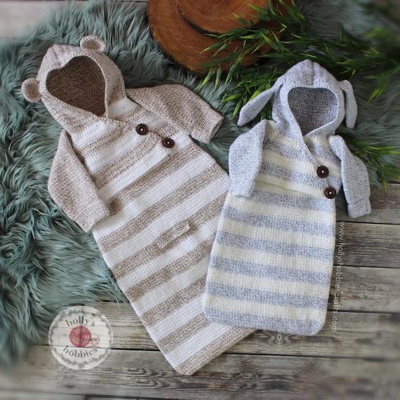 CROCHET PATTERN Baby Bunting Sack PreemieNewborn 4040 Etsy New Crochet Baby Bunting Pattern