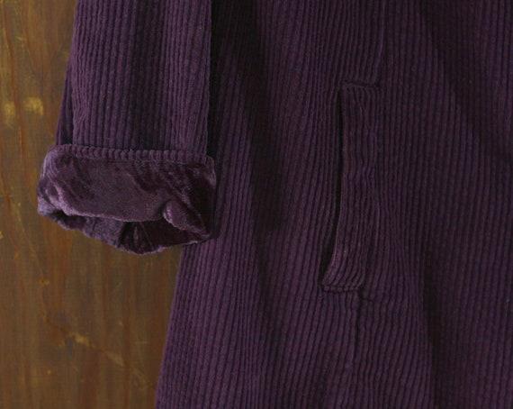 deep purple corduroy & velvet cotton India coat j… - image 6