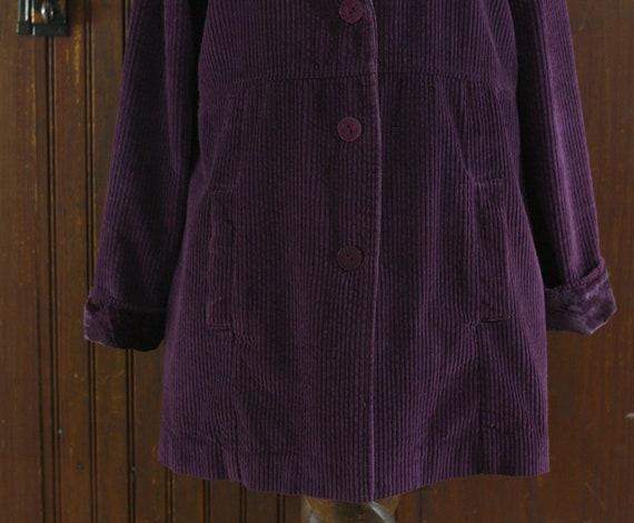 deep purple corduroy & velvet cotton India coat j… - image 9