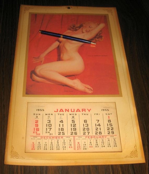 1955 Marilyn Monroe Calendar From An Estate Sale Etsy